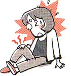 画像:膝蓋骨の痛みと不安定感